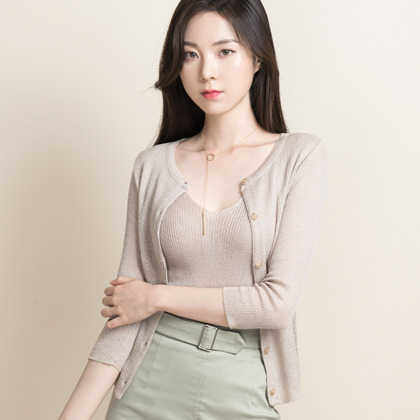 [해외몰전용] light round cardigan